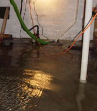 Several feet of floodwaters in a Rolling Meadows basement